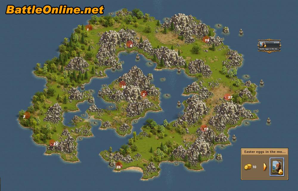 The Settlers Online: Castle Empire - Easter Egg Maps on